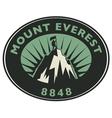 Mount Everest emblem vector image vector image