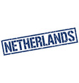 netherlands blue square stamp vector image vector image