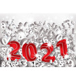 new 2021 year 3d card