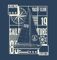 ocean yacht club sailing regatta vector image vector image