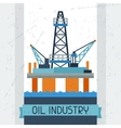 Oil platform in sea background vector image
