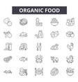 organic food line icons signs set linear vector image vector image