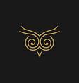 owl symbol image vector image
