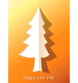 Paper cut christmas tree EPS8 vector image vector image