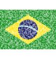 pixel brazil flag vector image vector image