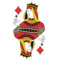 Queen of Diamonds no card vector image vector image