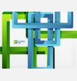 rectangle tube elements background vector image