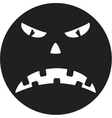 Scary face of halloween vector image