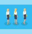 secretary woman icons set vector image