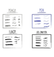 Set of Hand Drawn Doodle Sketchy Grunge Gel Ink