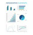 Set of infographic elements Diagrams and graphs vector image vector image