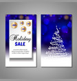 set of stylized christmas tree invitation flyer vector image vector image