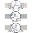 Set vintage ornamental ribbons menu vector image vector image