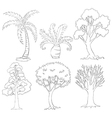 silhouettes trees vector image vector image