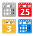 Simple calendar icons vector image vector image