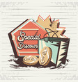 special discount with shopping bag retro style vector image