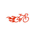 speedy bike logo design template vector image