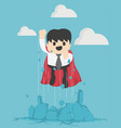 super business of super leader to success vector image vector image