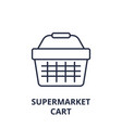 supermarket cart line icon outline sign linear vector image vector image