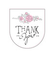 thank you handwritten inscription elegant design vector image vector image