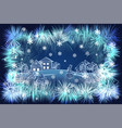 the image ice pattern on glass or festive garlands vector image vector image