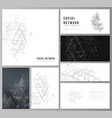 the minimalistic abstract editable layouts vector image