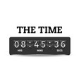 the time digital alarm clock background ima vector image vector image