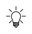 thin line light bulb idea icon vector image