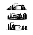three emblems an industrial plant vector image vector image
