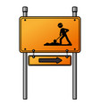 traffic signal road under construction vector image vector image