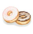 Watercolor donuts vector image vector image