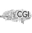 what is cgi that the heck text word cloud concept vector image vector image