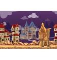 Medieval city seamless landscape background vector image