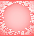 pink heart frame heart confetti frame valentines vector image