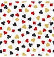 seamless casino gambling poker background with vector image