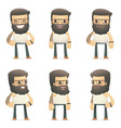 set of tattoo artist character in different poses vector image