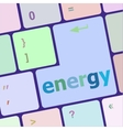 energy button on computer pc keyboard key vector image
