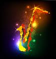 Grunge musical instruments on black saxophone vector image