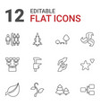 12 tree icons vector image vector image