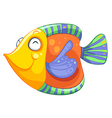 A happy fish vector image vector image
