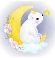 adorable polar bear in watercolor