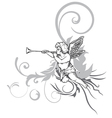 Angel with floral vector | Price: 1 Credit (USD $1)