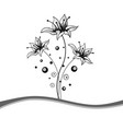 beautiful black and white floral frame vector image
