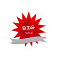big sale icon banner red star design vector image vector image