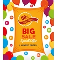 big sale special offer buy now banner and balloons vector image