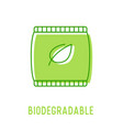 biodegradable organic waste concept recycling vector image