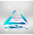 Blue colored wave design Abstract background vector image vector image