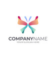 butterfly luxury logo template vector image vector image