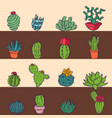 cactus home nature card of vector image vector image