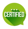 Certified sign vector image vector image